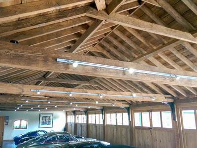 Oak Garages Vaulted Beams