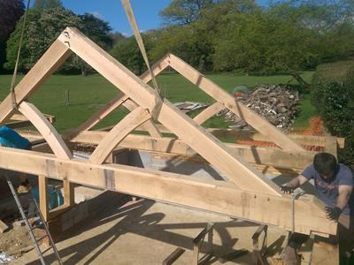 15 Bay Garage Complex - Oak Trusses