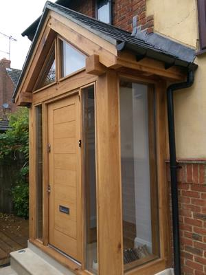 Essence of oak oak porches gallery for Enclosed front porch house extension
