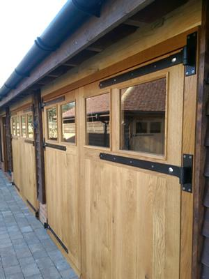 Oak Framed Garage Doors X 15 Sets - Hertfordshire