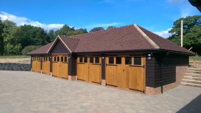 Oak Framed 15 Bay Garages