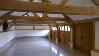 15 Bay Oak Framed Garages Inside