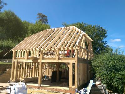 Oak Double Storey In Construction