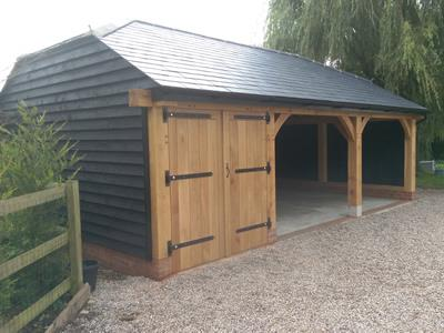 3 Bay Oak Frame With Slate Roof, Saffron Walden