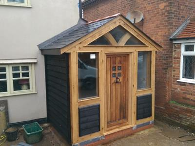 Oak Framed Porch And Extension Little Waltham