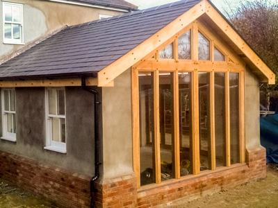 Garden Room Gable Glazed In Oak