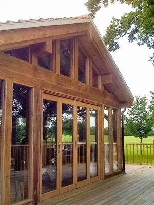 Oak Garden Room Gable