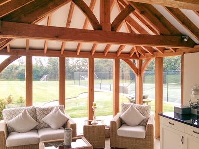 Vaulted Oak Garden Room