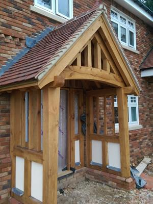 Vaulted Oak Porch - Curved Tie Beam, Great Baddow