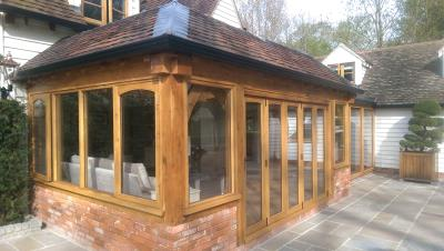 Oak Frame Garden Room Link Essex