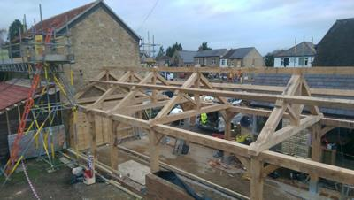 Oak Framed Outbuilding And Trusses, Histon Cambridge