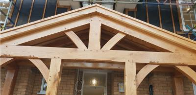 Front View Oak Porch Epping Essex